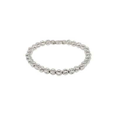 Officina Bernardi 6mm Moon Bead Bracelet