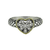 Andrea Candela 18kt and Sterling Silver Diamond Heart Ring, Andrea ll