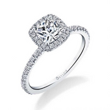 Sylvie - Vivian - Classic Cushion Halo Engagement Ring