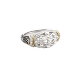 Andrea Candela 18kt and Sterling Silver Diamond Ring, La Corona