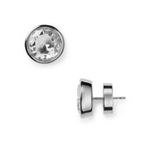 Michael Kors Brass Crystal Stud Earrings