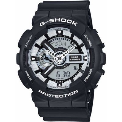 Casio G-Shock Digital Analog Black Sports Watch GA110BW-1A
