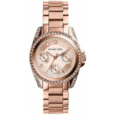 Michael Kors MK5613 Blair 33mm Chrono Crystal Rosetone Stainless Steel Women's Watch