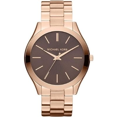Michael Kors Women's 'Slim Runway' Quartz Stainless Steel Watch, Color: Rose Gold-Toned MK3181