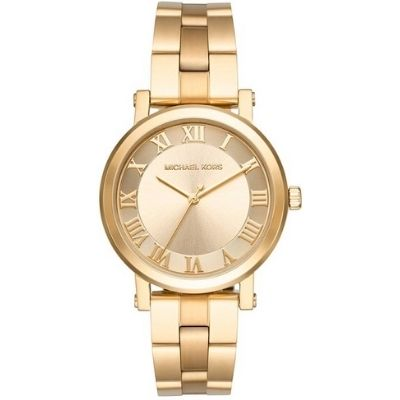 Women's Michael Kors Norie Gold Steel Watch MK3560