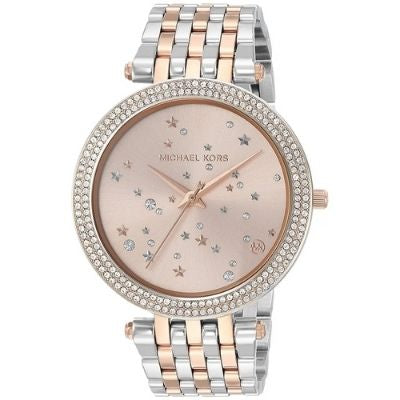 Michael Kors Women's MK3726 'Darci' Stars Crystal Two-Tone Stainless Steel Watch