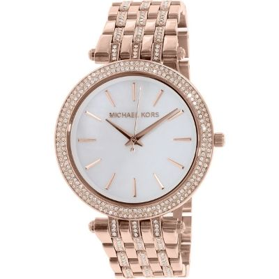 Michael Kors MK3220 Women's Darci Rose Gold Tone MOP Dial Glitz 39mm Watch