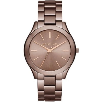 Women's Michael Kors Slim Runway Brown Steel Watch MK3418