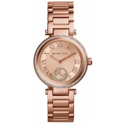 Michael Kors Watches : MK5971 Quartz Rose Gold Dial Stainless Steel Women Watch