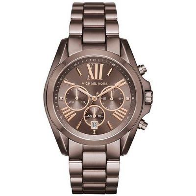 Women's Michael Kors Bradshaw Brown Steel Chronograph Watch MK6247