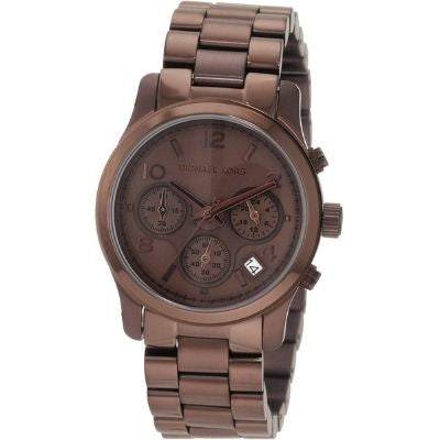 Michael Kors Women's MK5492 Brown Tone Stainless Steel Quartz Chronograph Date Display Brown Dial