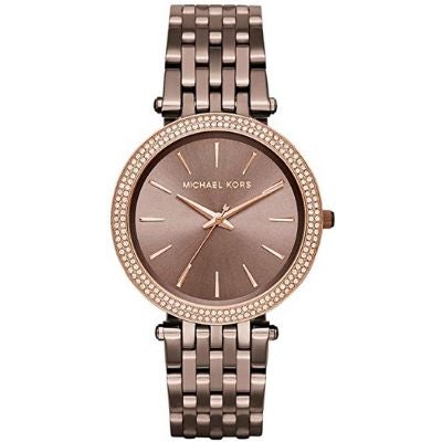 Michael Kors Darci 3 Hand Watch with Glitz Accents, 39MM MK3416