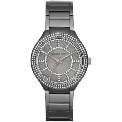 Michael Kors Kerry Grey Dial Gunmetal Stainless Steel Women's Watch MK3410