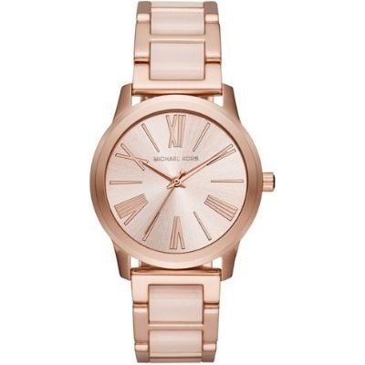 Women's Michael Kors Hartman Rose Gold Tone Steel Watch MK3595