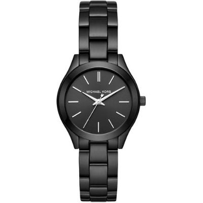 Women's Michael Kors Mini Slim Runway Black Steel Watch MK3587