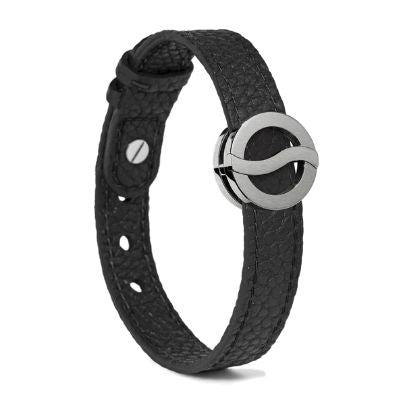Philip Stein Horizon Bracelet-Large Steel Matte Icon Textured Black 10L-BBSM-CBSTXL