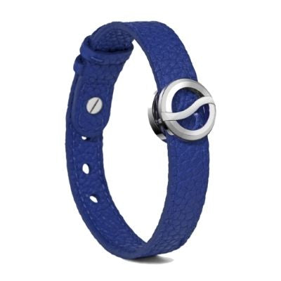 Philip Stein Horizon Bracelet-Steel Icon Royal Blue Leather 10S-BBSS