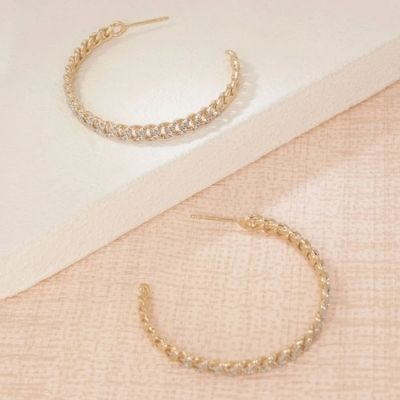 Hand In Hand Hoop Earrings