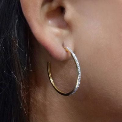 Head Turning Medium Hoop Earrings