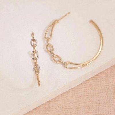 Link Up Hoop Earrings