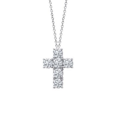 1.5 ct tw Cross Pendant Necklace