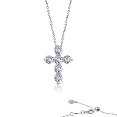 LaFonn 1.02 ct tw Cross Pendant Necklace