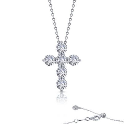 2.76 ct tw Cross Pendant Necklace