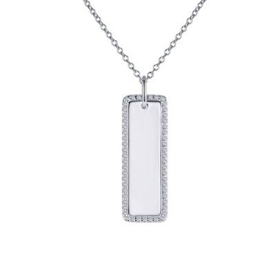 Vertical Bar Pendant Necklace