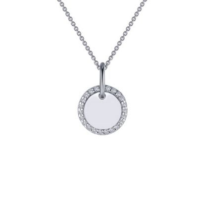 Lafonn Round Disc Pendant Necklace