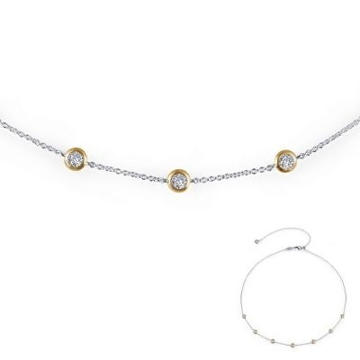 Lafonn 7 Symbols of Joy Gold-Plated CZ Two-tone Necklace
