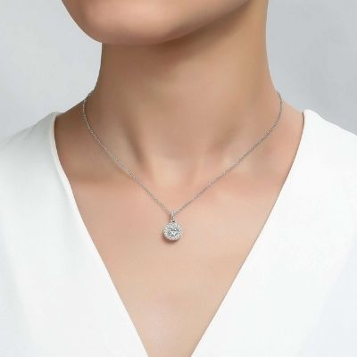 Lafonn Halo Pendant Necklace