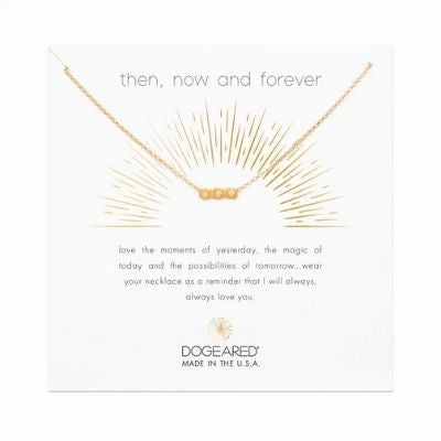 then now and forever crystal necklace