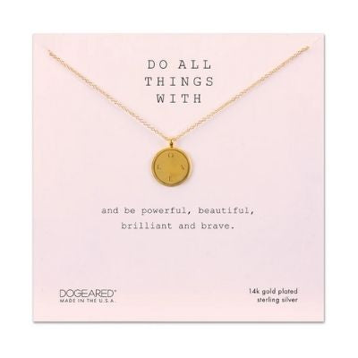 do all things with, L.O.V.E. disc necklace