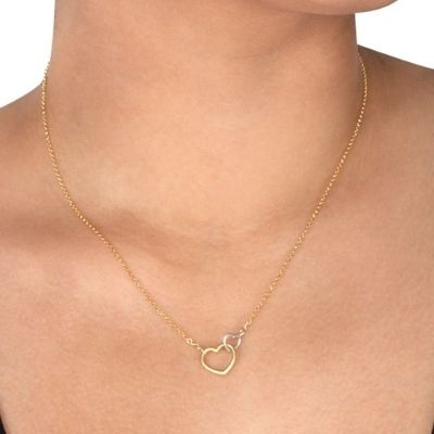 do all things with love linked hearts necklace
