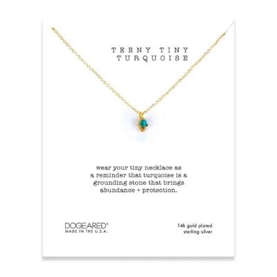 teeny tiny turquoise necklace