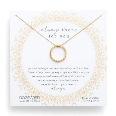 always there for you decorative ring necklace