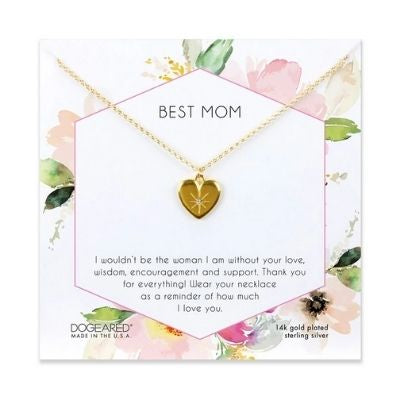 best mom crystal heart necklace