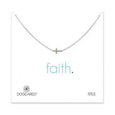 faith small sideways cross necklace