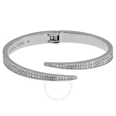 Michael Kors Matchstick Pave Silver-Tone Cuff