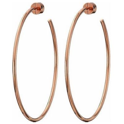 Michael Kors Rose Gold Extra Large Rounded Hoops