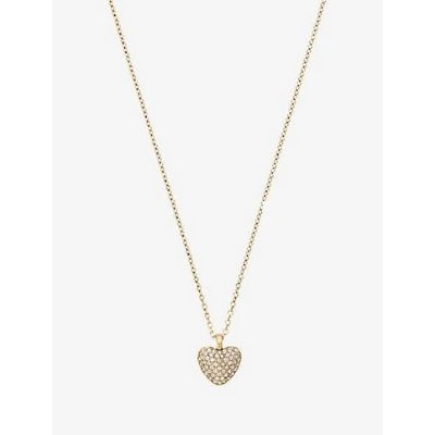Michael Kors Pave Heart Necklace