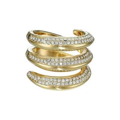 Michael Kors Pave Gold Tone Wrap Ring (Size 7)
