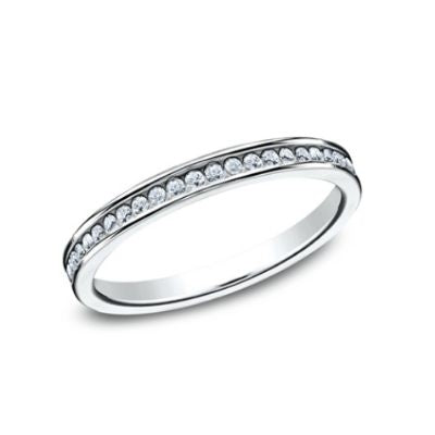 Benchmark Channel Set Ladies Diamond Band