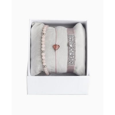 Les Interchangeables Blush Pink Bracelet Stack (Beige Rose 1)