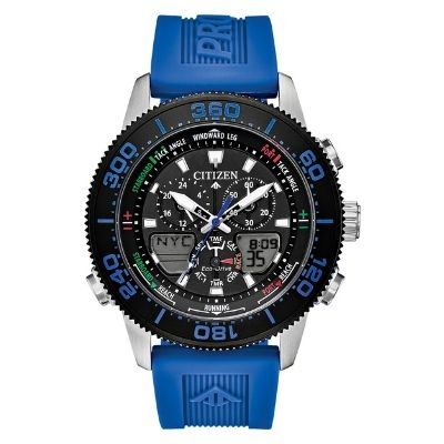 Men's Citizen Watch Promaster Sailhawk Cobalt Blue Silicone Band Watch JR4068-01E