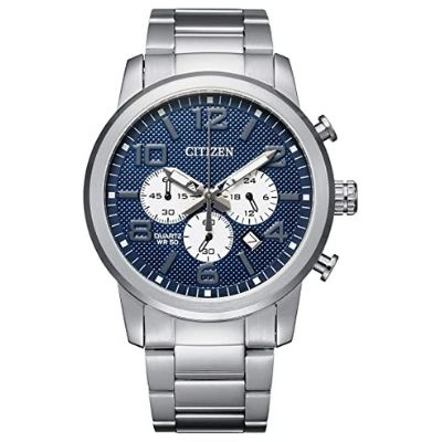 Citizen Men's Quartz Stainless Steel Strap, Silver, 22 Casual Watch AN8050-51M