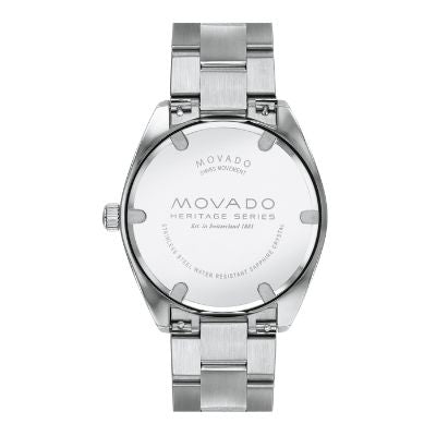 Movado Heritage Series Calendoplan Stainless Steel Mens Watch 3650056