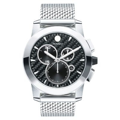 Men's Movado Vizio Chronograph Stainless Steel Mesh Bracelet Watch 0607380