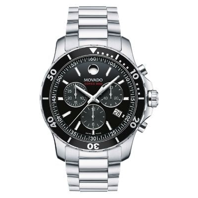 Men's Movado Series 800 Chronograph Black Dial 2600142