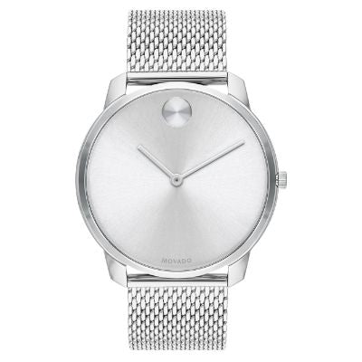 Men's Movado BOLD Mesh Bracelet Stainless Steel Watch 3600589